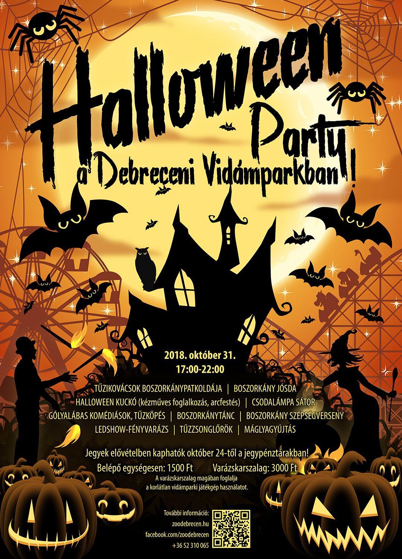 Halloween party a Vidámparkban!