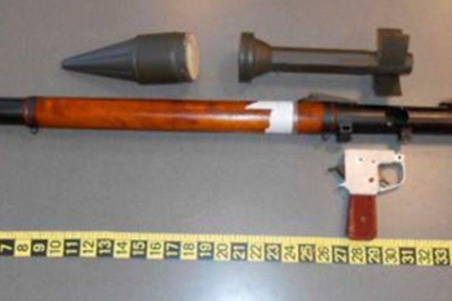 Ezt a gránátvetőt találták a férfi csomagjában                                  © TSA