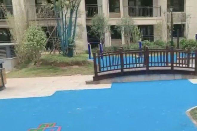 Medencére és parkra néző lakás